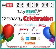 Baby Gizmo 25 Million Giveaway Celebration Day 1 http://blog.babygizmo.com/2013/09/baby-gizmo-25-million-giveaway-celebration-day-1/#comment-275059