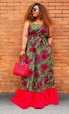 Long African Dresses, Latest African Fashion Dresses, African Print Fashion, African Attire, African Women, Look, Clothes For Women, Ankara, Modeling