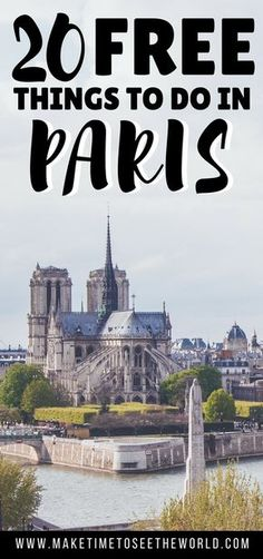 Paris can be expensive - but it doesn't have to be! Click to find out the Top 20 Free Things To Do in Paris and give your wallet a break on your next visit to the City of Light ************************************************************************************************** Free Things To Do in Paris | Things To Do in Paris | Free Paris | Paris on a Budget | France