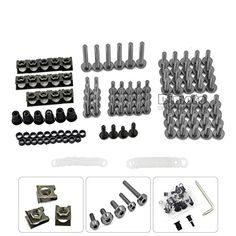 Universal CNC Aluminium Motorcycle Fairing Bolt Screws set Motorcycle Accessories Fastener Clips Screw sethttps://www.amazon.co.uk/dp/B071K89R1W?th=1