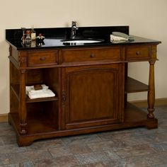 "48"" Ashford Cherry Vanity for Undermount Sink"