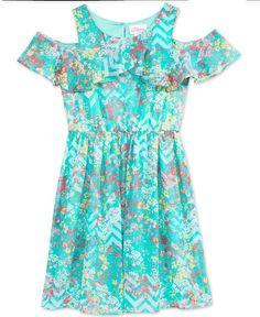 Bloome Floral-Print A-Line Dress, Big Girls (7-16)