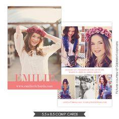 22 best Model & Comp Cards images on Pinterest   Card patterns ...