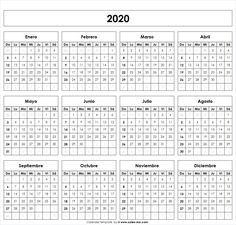 Calendario Festivo Espana 2020.Calendario 2020 Agendas En 2019 Calendario En Blanco