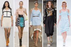 SS16 Trend at LFW: Chokers // From left to right: Issa, J.W. Anderson, Palmer Harding, MM6, and Gyo Yuni Kimchoe