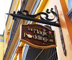 The magic pudding cafe sign - danthonia designs usa