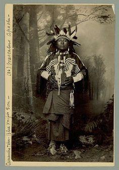 Comanche John (the son of Blue Knife) - Mescalero Apache - 1886