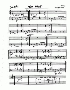 So What Saxophone Sheet Music, Jazz Sheet Music, Music Sheets, Free Sheet Music, Guitar Chords, Ukulele, Jazz Guitar Lessons, Blue In Green, Trumpet Music