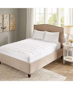 Sleep Philosophy Quilted Copper-Infused Microfiber Down-Alternative Mattress Pad - White