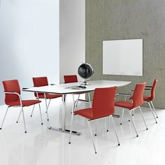 Furniture for offices includes a diverse range of contemporary conference room furniture. This product range has a variety of tables and chairs for company conference rooms. Available in a varied range of table-top finishes and matching chairs, the stylish collection can enhance any office decor.