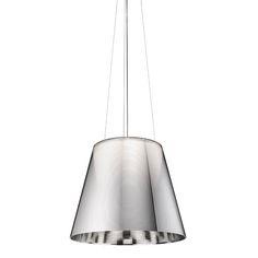Buy Flos Ktribe Sospensione silver by Philippe Starck Ceiling Rose, White Ceiling, Ceiling Lamp, Large Pendant Lighting, Modern Pendant Light, Philippe Starck, Silver Lamp, Light Of Life, Lamp Bulb