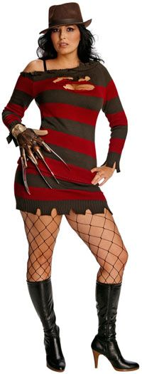 Deluxe Miss Krueger Plus Size Costume – Sexy Nightmare on Elm Street Costumes « Mutant Faces