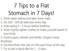 7 tips to a flat stomach in 7 days!