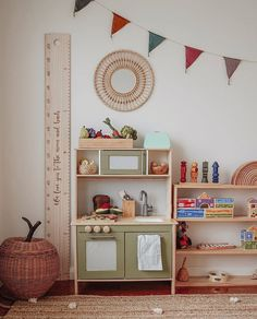 I saw this on another post & really enjoyed reading the comments so. What things have you learnt in ISO? Here is my list- Am highly… Kids Playroom Storage, Playroom Ideas, Ikea Kids Kitchen, Kitchen Hacks, Boys Room Decor, Eclectic Decor, Fun Projects, Rattan, Happy Monday