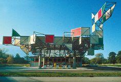 BP Service Station, Thônex, Geneva, Switzerland, 1974 — Jean-Marc Lamunière
