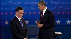 147 Romney faces big risk if he returns to Libya scandal at final debate    President Barack Obama and Republican presidential candidate, former Massachusetts Gov. Mitt Romney, pause as they participate in the second presidential debate, Tuesday, Oct. 16, 2012, at Hofstra University in Hempstead, N.Y. (AP Photo/Carolyn Kaster) (AP2012)    Oct. 19, 2012