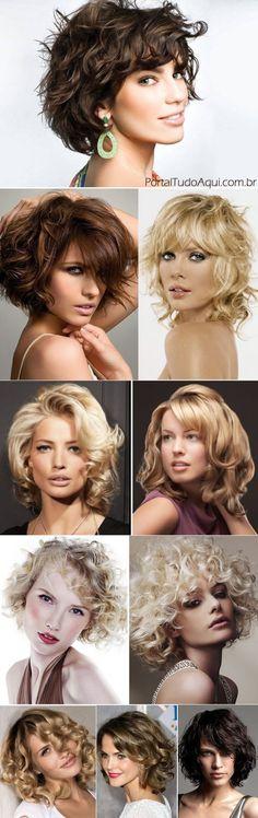 Corte de cabelo Chanel para cabelo cacheado -chanel -com-franja