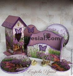 Fair Masters - handmade set of kitchen baskets, boxes Provencal herbs. Decoupage Wood, Decoupage Vintage, Vintage Crafts, Decoupage Letters, Shabby Chic Theme, Shabby Chic Crafts, Tole Painting, Painting On Wood, Wallpaper Nature Flowers