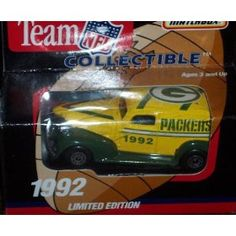 Green Bay Packers 1992 NFL Diecast Chevy Sedan Truck Collectible Limited Edition Car by White Rose Matchbox by NFL $18.79