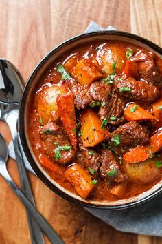 Slow Cooker Beef Stew with Butternut, Carrot and Potatoes