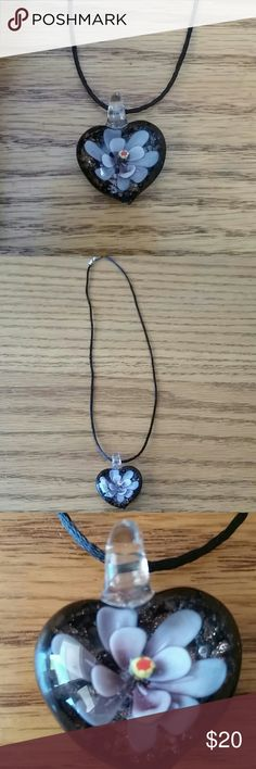 Glass heart with flower inside necklace Fashion jewelry glass heart with flower inside necklace. New Fashion jewelry Jewelry Necklaces