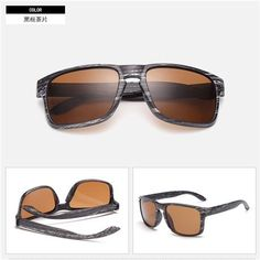 ebe119e5d71c5 2018 Mens Wood Grain Sunglasses Men Vintage Eyewear Rivets Coating Glasses  Black Brown Frames Male Female Square Sun Glasses