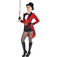 Adult Circus Ringmaster Costume | Party City Ringmaster Costume, Cosplay, Costumes For Women, Fashion, Halloween Costumes, Moda, Fasion, Halloween Outfits