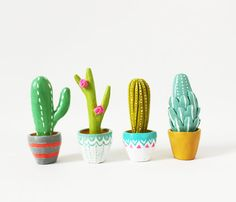 Adorable!!!!!!  Cactus sculpture  Gift for gardeners   by sweetbestiary = can be seen on Flickr, too!