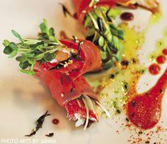Salmon Lox Rolls. Recipe courtesy of Chef Mike Dodge, Hott Stixx.
