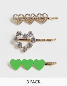 Discover hair accessories with ASOS. From beaded headbands to hair clippers and hair bows, our range of hair accessories has something for every occasion. Pop Fashion, Heart Designs, Heart Shapes, Hair Bows, Hair Clips, Belly Button Rings, Headbands, Arrow Necklace, Asos