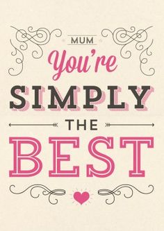 Simply the Best | Mothers Day Card