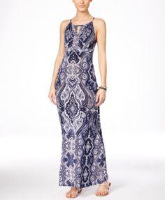 INC International Concepts Embellished Keyhole Maxi Dress, Only at Macy's | macys.com