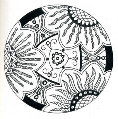 flower globe zendala by dots 'n' doodles, via Flickr