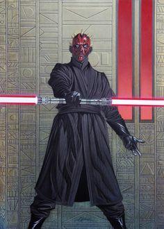 Star Wars: Darth Maul-David Michael Beck Comic Art