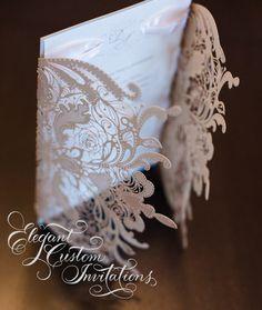 Ornate Lasercut Lace Invitation