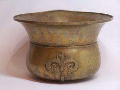 1800's antique bronze bowl, basin