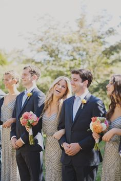 Bridesmaids and groomsmen: http://www.stylemepretty.com/2014/12/17/romantic-marthas-vineyard-wedding/ | Photography: Our Labor of Love - http://ourlaboroflove.com/
