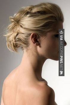 Neato! - Piled up pinned hair. Wedding hairstyle | CHECK OUT MORE GREAT WEDDING HAIRSTYLES AND WEDDING HAIRSTYLE PHOTOS AT WEDDINGPINS.NET | #weddings #hair #weddinghair #weddinghairstyles #hairstyles #events #forweddings #iloveweddings #romance #beauty #planners #fashion #weddingphotos #weddingpictures
