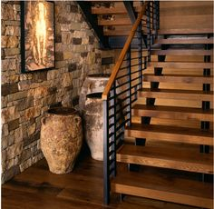 Pottery under stairs