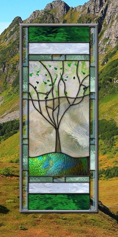 Jim Adams Family Tree Stained Glass Window by stainedglassfusion, $169.00