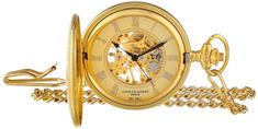 Charles Hubert 3861G GoldPlated Mechanical Pocket Watch *** Check out the watch by visiting the link.