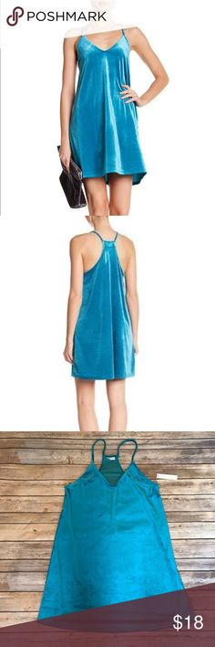 Abound Teal Enamel Dress New! Adorable teal enamel dress! Perfect for Spring or Summer! Feels like velvet and looks fresh and fun! Dresses