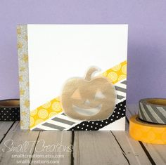 Halloween Washi Tape Card | Small T Creations. Get the washi tapes here: https://smalltcreations.etsy.com/