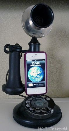 old telephone-iphone dock
