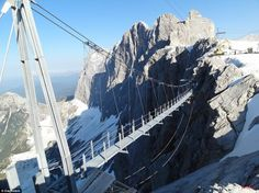 Bridge suspension at Dachstein Glacier - Austria | Tododesign _ Design, architecture & lifestyle
