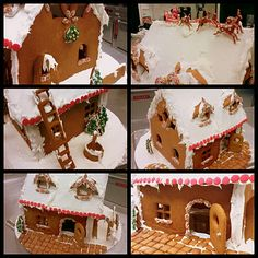 LE CHEF BLEU'S BLOG Gingerbread House : The Art of Royal Icing Masonry Loving the pavers.
