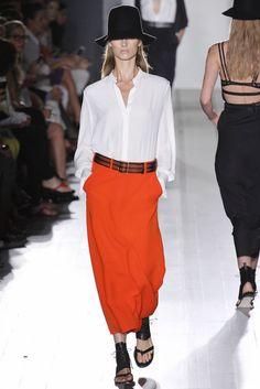 #orange & #whiteshirt for #summer2013 {Victoria Beckham Spring 2013 Ready-to-Wear Collection}