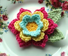 Love this crocheted flower.