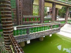 Beer Bottle Buddhist Temple Veranda
