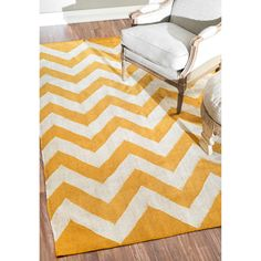 nuLOOM Flatwoven Indoor/ Outdoor Chevron Fancy Yellow Rug (5' x 8')